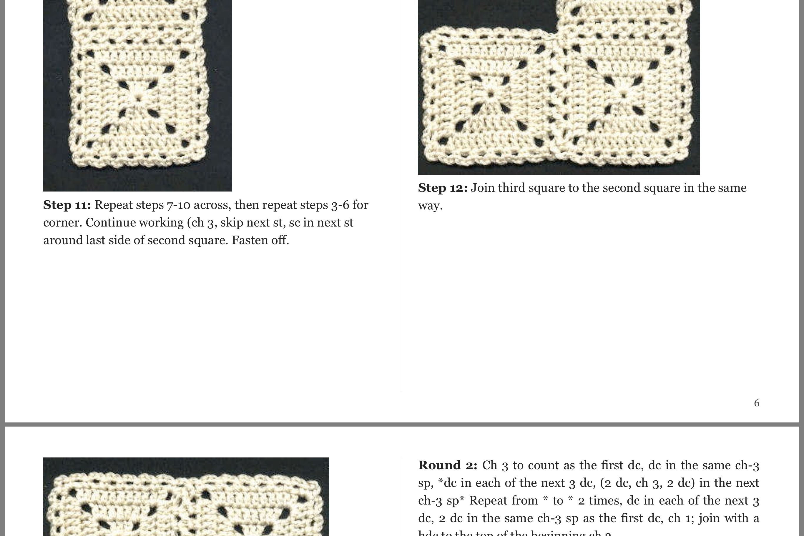 Joining granny squares with a braided stitch | Granny square | Pinterest