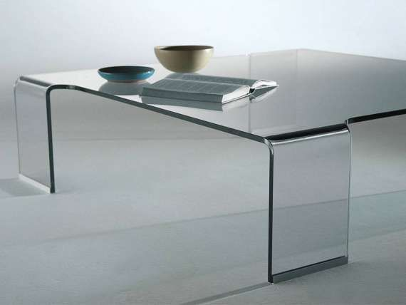 Tavolino in vetro curvato box tavoli da divano tavolini