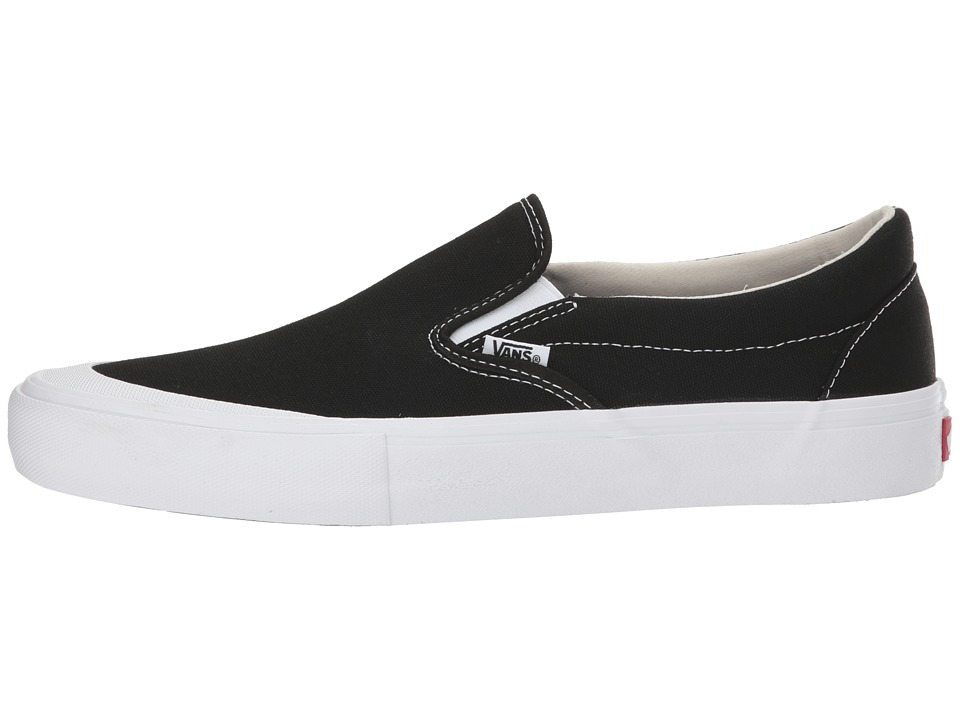 Vans Slip On Pro Men's Skate Shoes (Toe Cap) BlackWhite