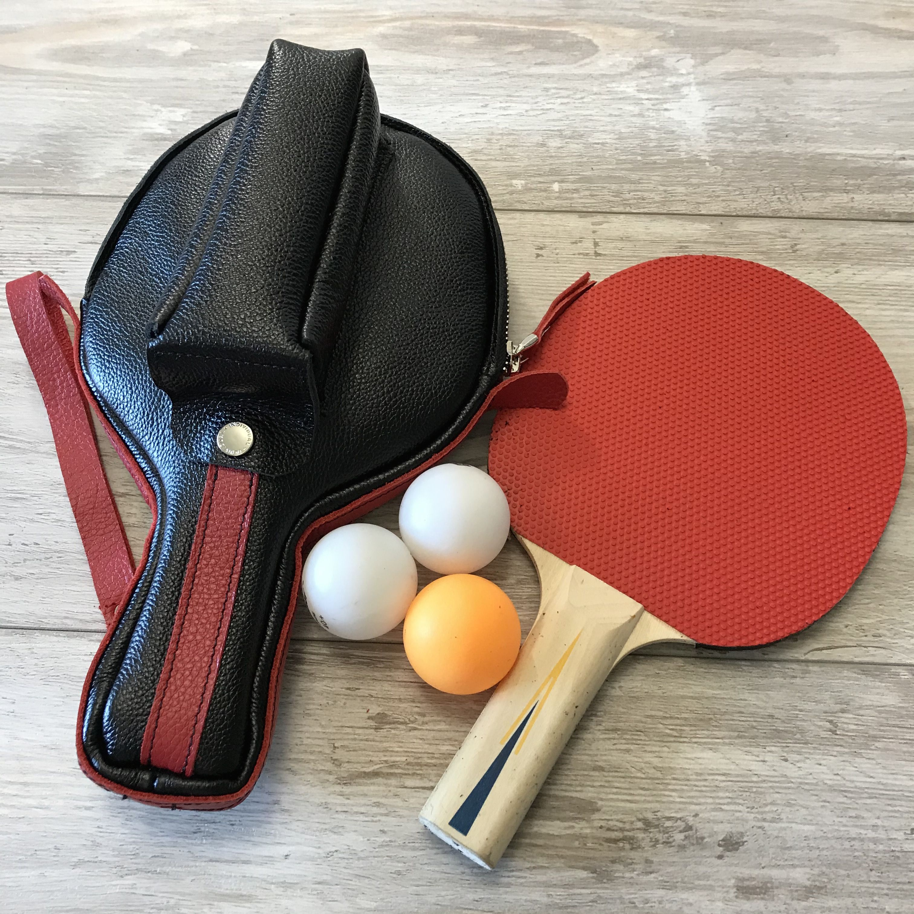 Pair Professional 3-Star Table Tennis Ping Pong Paddle Racket with Case /& 3Balls