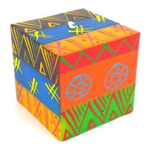 Hand-Painted Cube Candle - Shahida Design - Nobunto