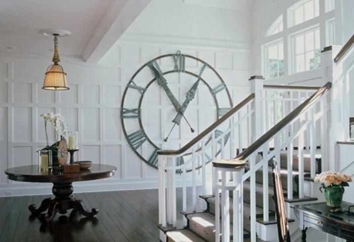 Designer Wanduhren Dekorative Wanduhr Großes Modell Weiße Wohnzimmer
