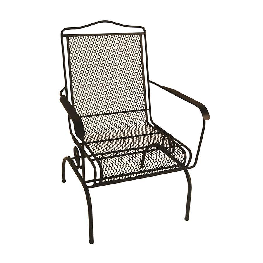 Garden Treasures Black Stackable Metal Spring Motion Dining Chair