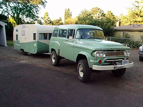 the old Dodge matching camper