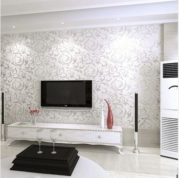 Silver wallpaper for living room google search