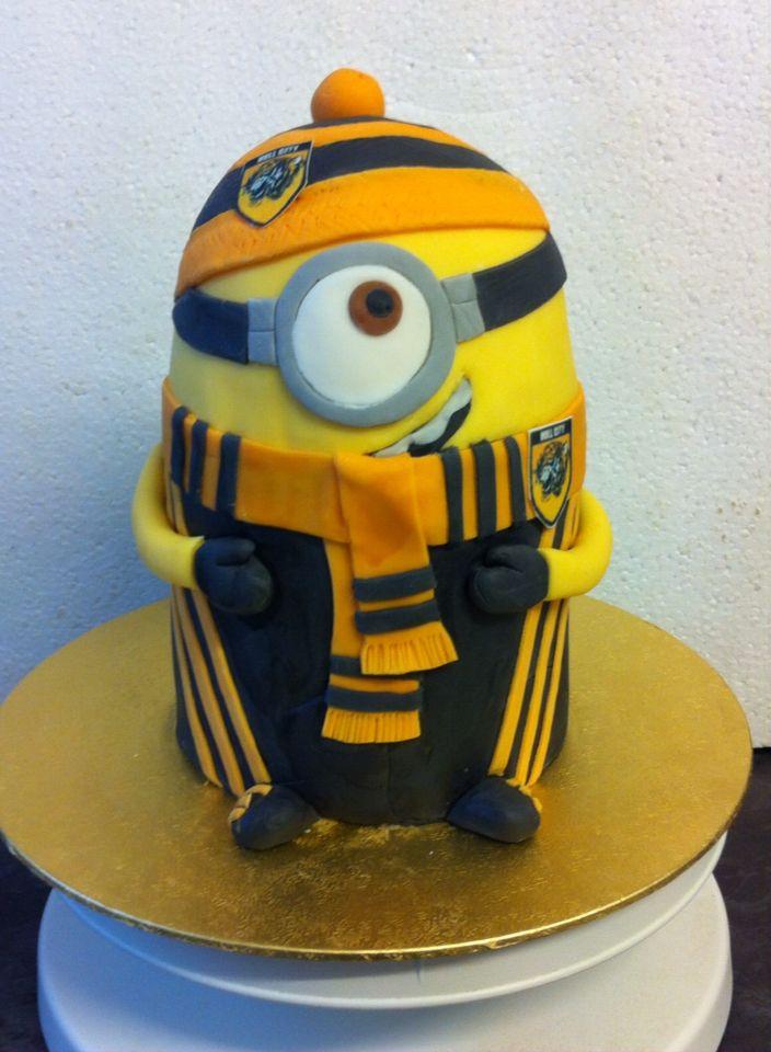 Hull city minion my cakes pinterest hull city cake designs cake pastries hull city minion maxwellsz