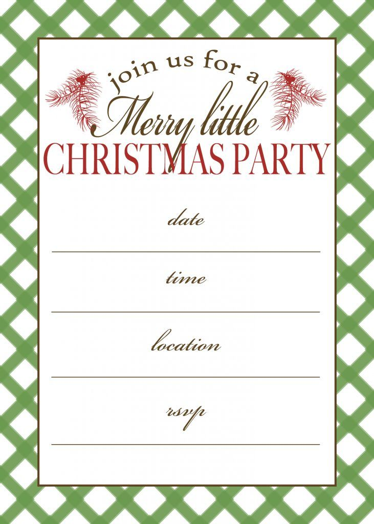 Free Printable Christmas Party Invitation | Invite friends, Party ...