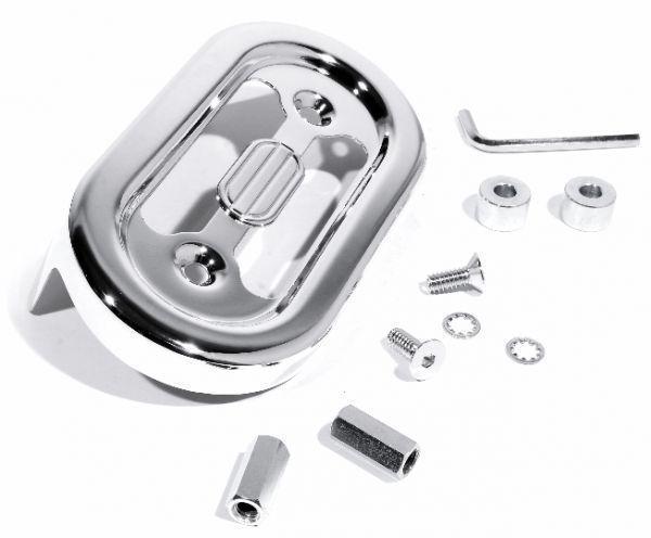 Elevenfy   Chrome Couvercle Alternateurs Régulateurs Pour Harley  -  Davidson Softail 89 - 99