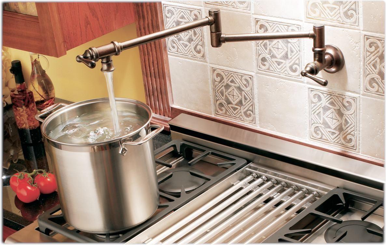 Ideas To Install Pot Filler Faucet Moen Kitchen