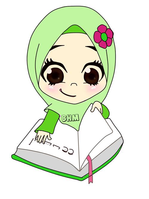 Kartun Muslimah Baca Quran Nusagates