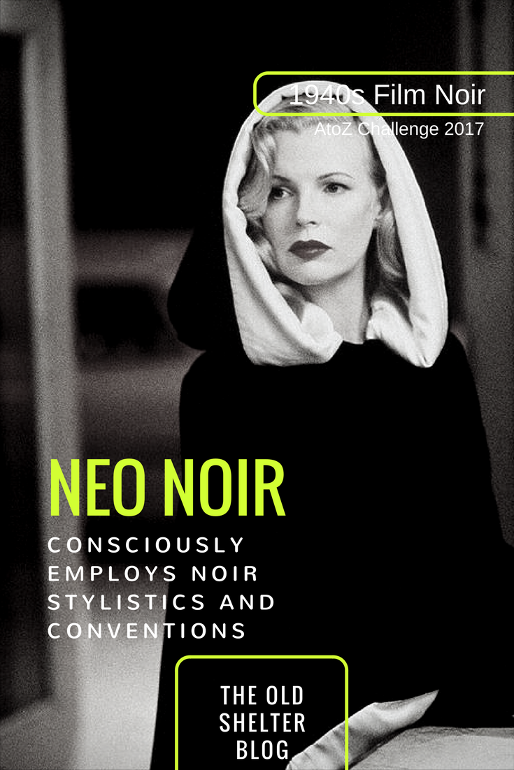 Neo Noir refers to post-1960s films of similar content and expression, but which consciously employ noir stylistics and conventions. Neo noir alludes to classic noir, either implicitly or explicitly, building on what is now recognised and accepted as a distinct body of films.