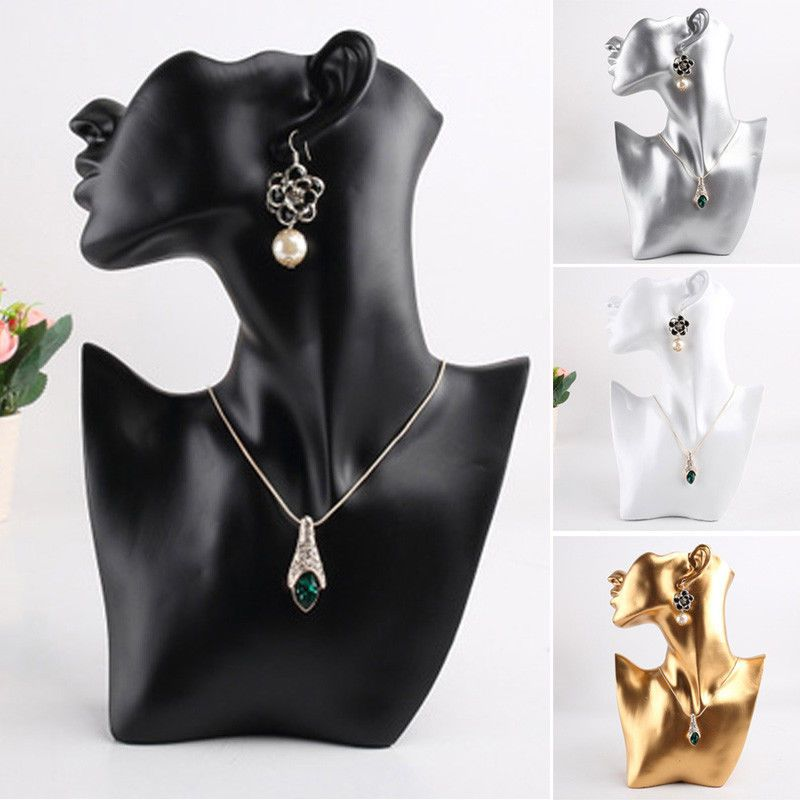 Resin Mannequin Necklace Earring Jewelry Display Head Bust Stand Holder Rack Unbran Modern Jewelry Necklace Delicate Jewelry Necklace Necklace Jewelry Display