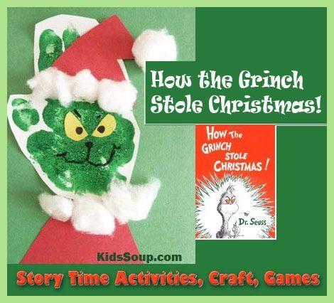 How the Grinch Stole Christmas! Story Time and Craft