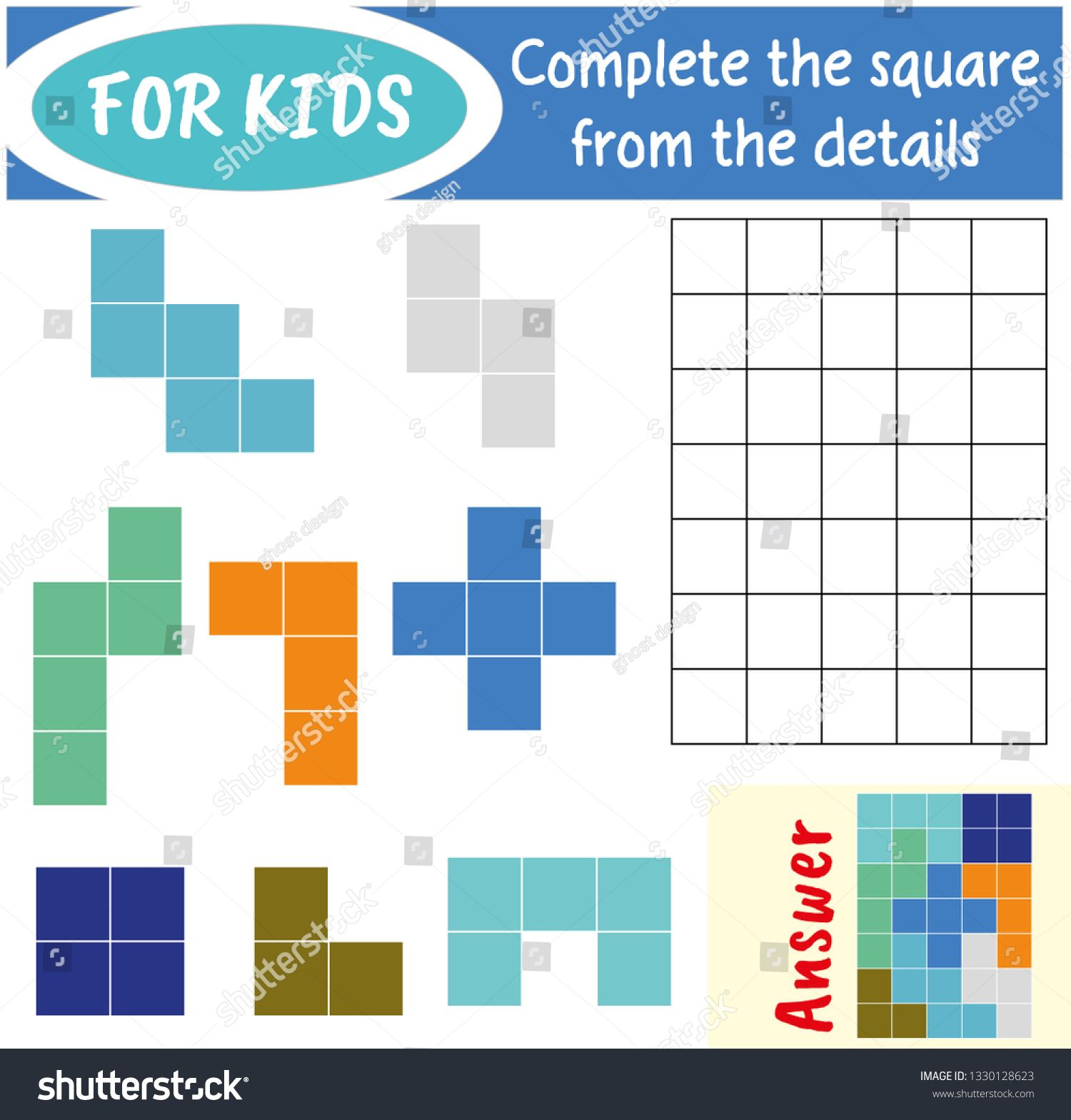 Puzzle Game With Colorful Details For Children Complete