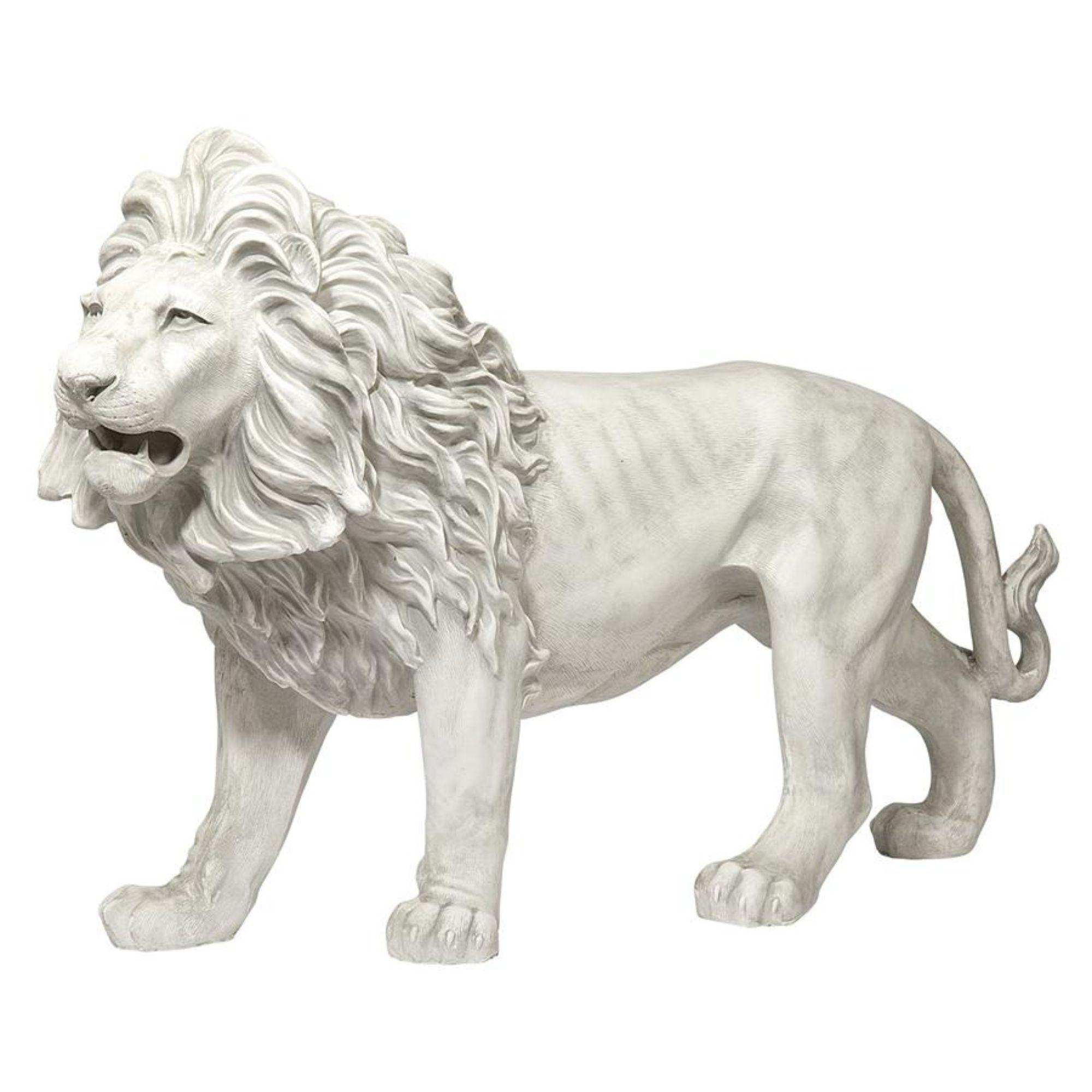 37 White And Gray Regal Lion Sentinel Of Grisham Manor Outdoor Garden Statue Ga Garden Gray Grisham Lion M Garden Statues Statue Outdoor Garden Statues