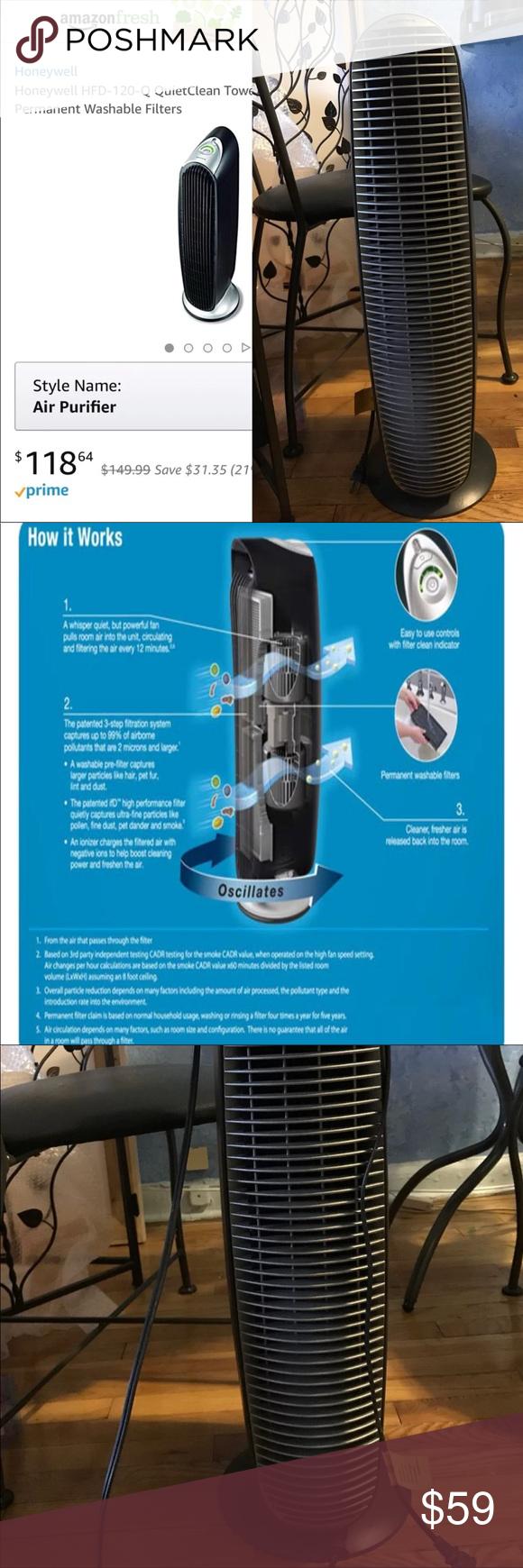 Honeywell Portable Air Purifier, Permanent Filter Portable