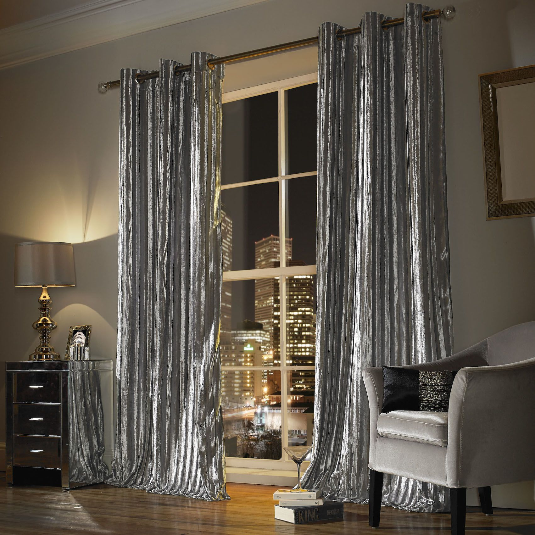 Silver Curtains For Bedroom Iliana Silver Curtains By Kylie Minogue Home Decor Master