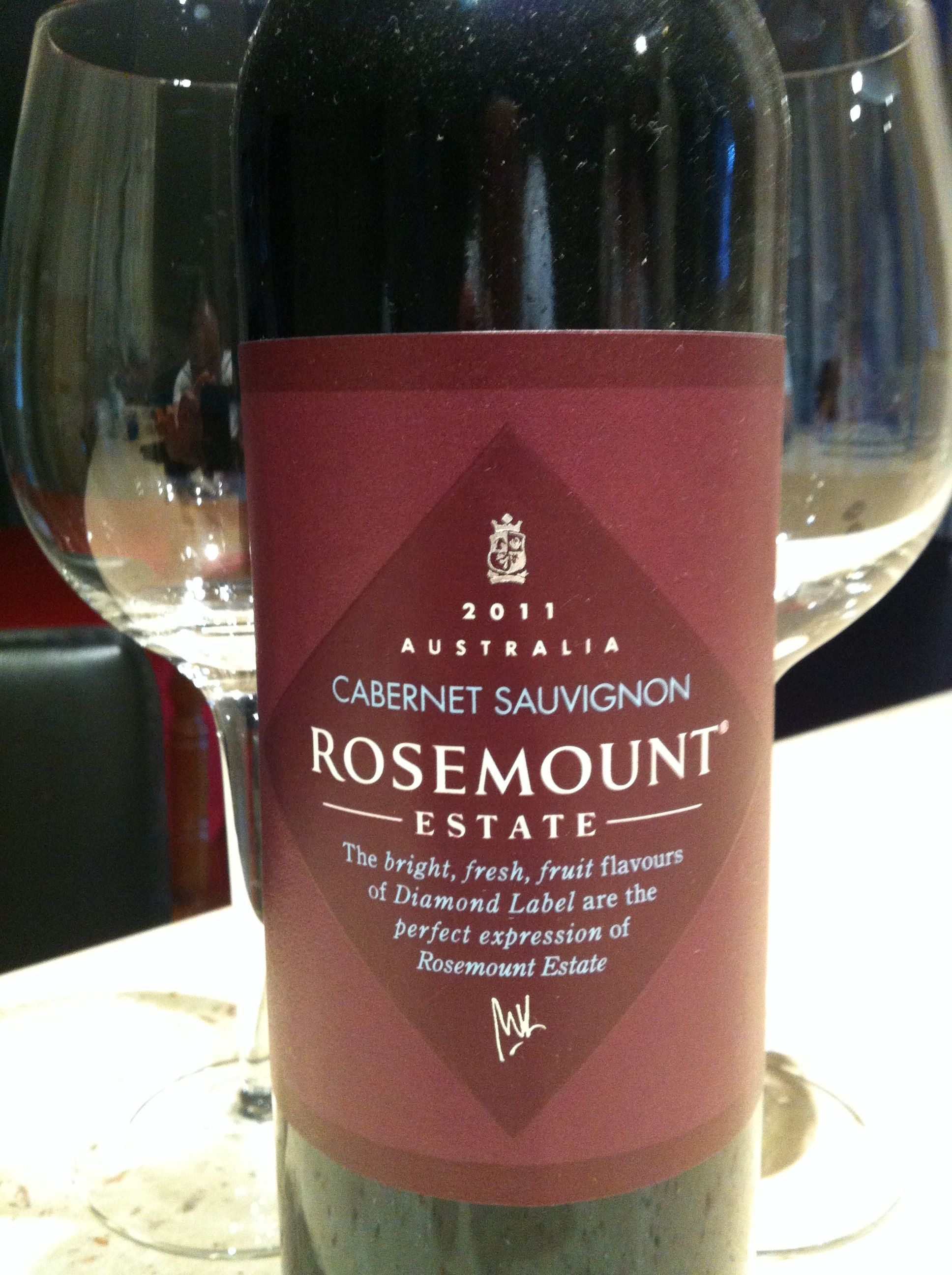 2011 Rosemount Estate Cabernet Sauvignon Still Very Young Generous Wine With Full Fresh Fruit Flavours And Smooth Luxuriou Fruit Flavored Fresh Fruit Flavors