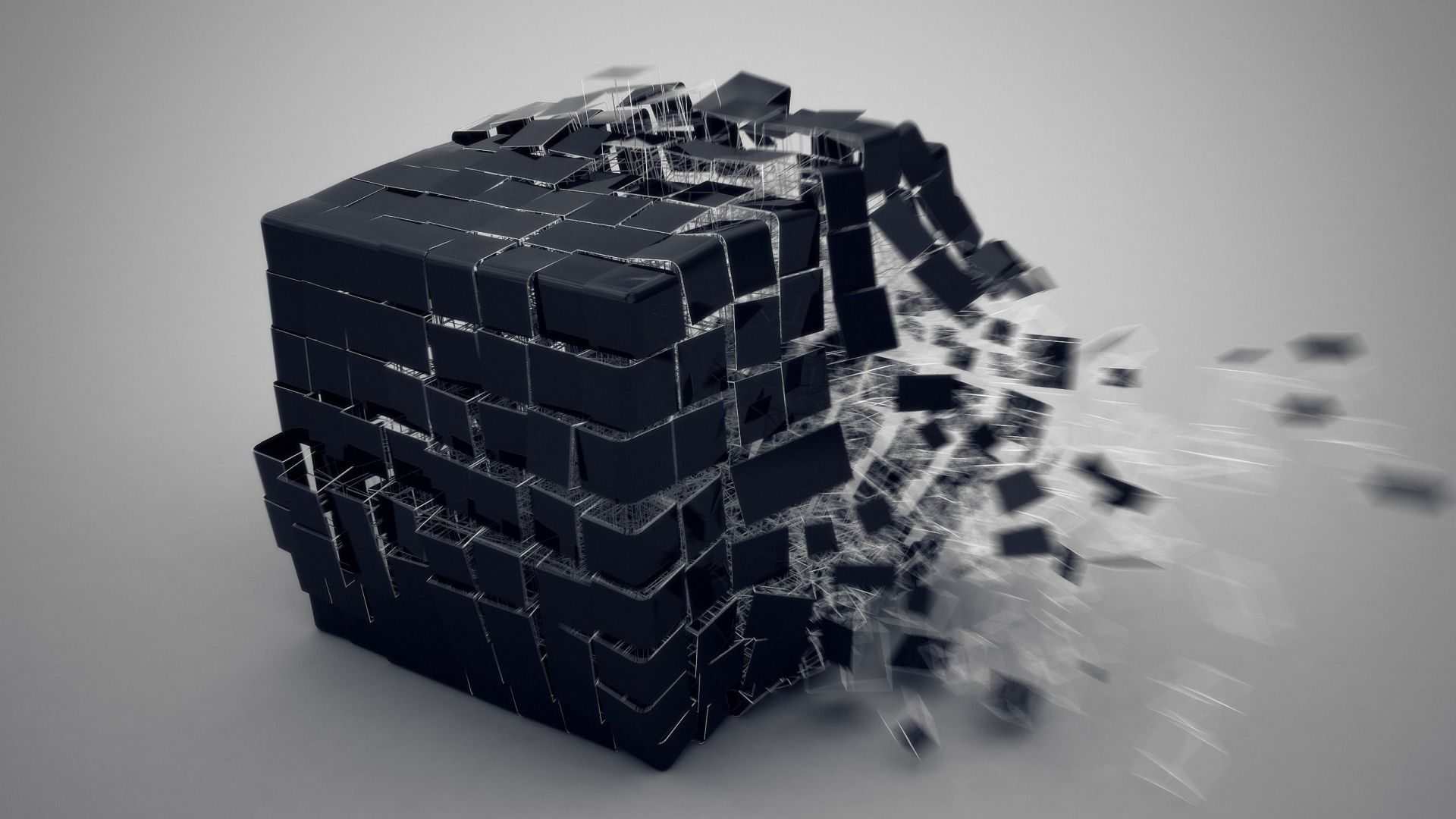 1920x1080 wallpaper cube, burst, forming | wallpapers hd | wallpaper