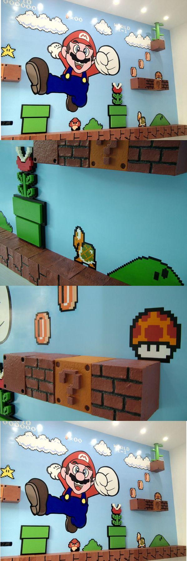 Amazing D Super Mario Bros Mural Game Room Ideas Pinterest