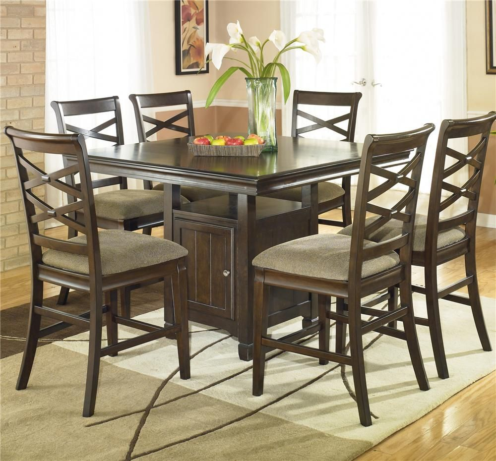Hayley Dining Room Set: Hayley Collection By Ashley. Counter Height For Breakfast