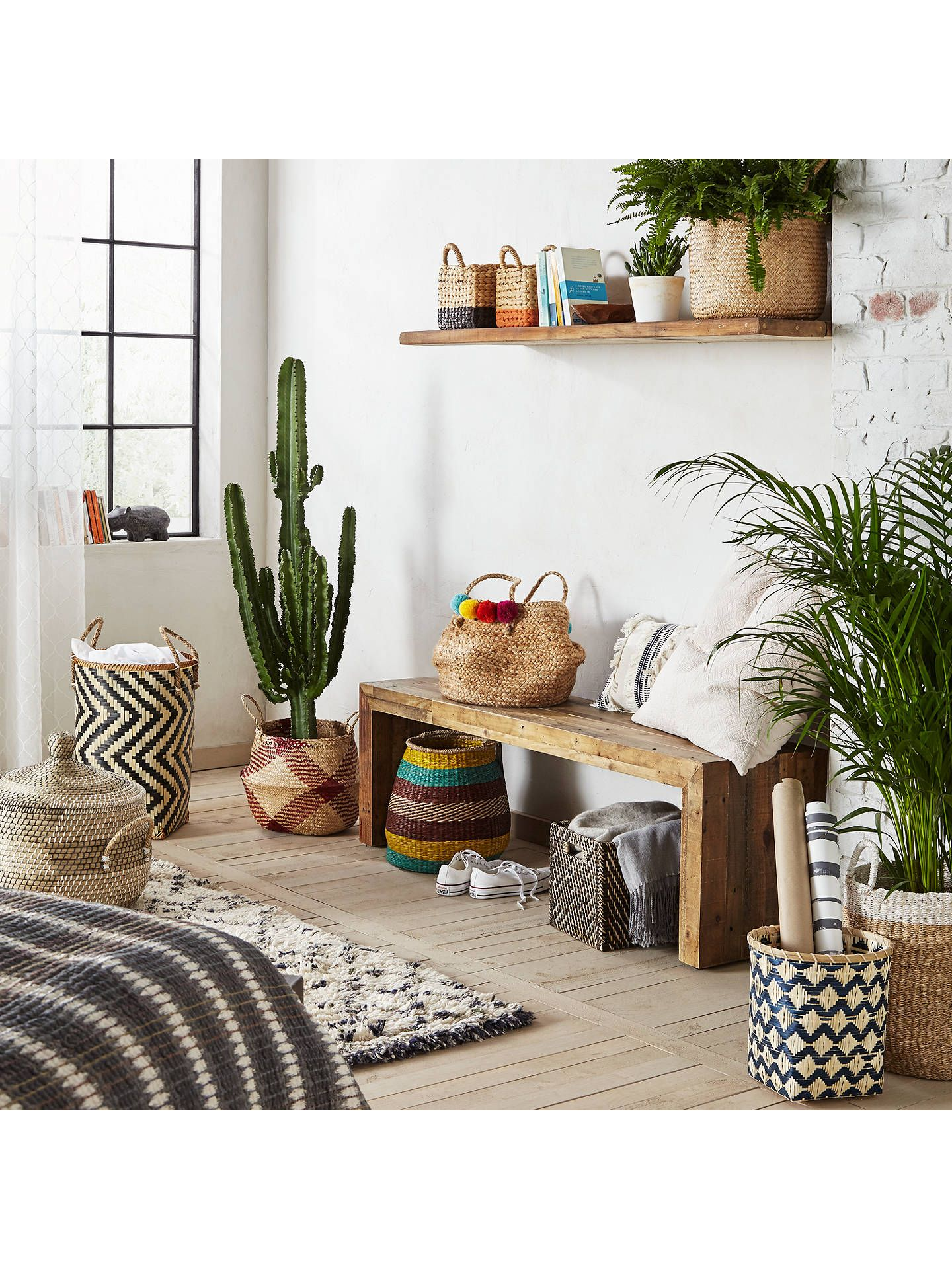 John Lewis & Partners Fusion Natural Seagrass Basket in