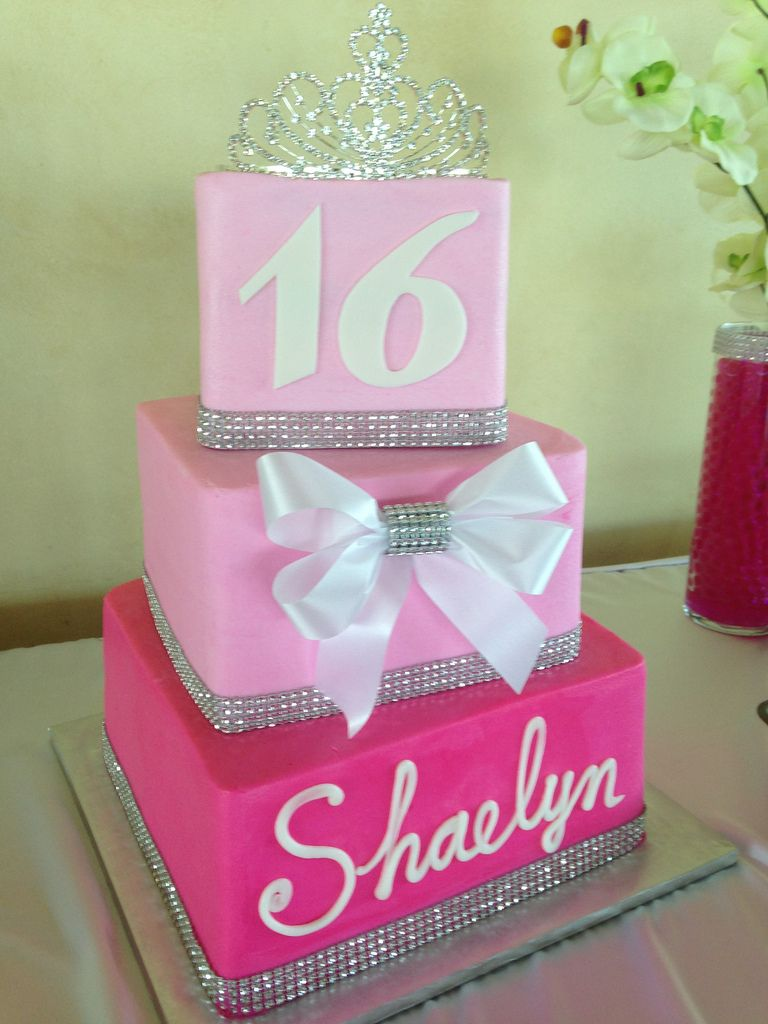 Pinksweetcake Wedding Pinterest Sweet  Cake And  Cake - Sweet 16 birthday cakes