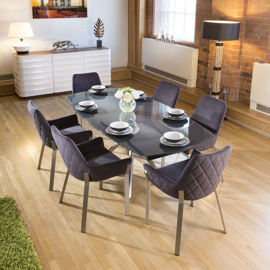 Tavolo Allungabile 6 Sedie.Idea Dining Table With Carver Chairs Dining Sets Modern Square