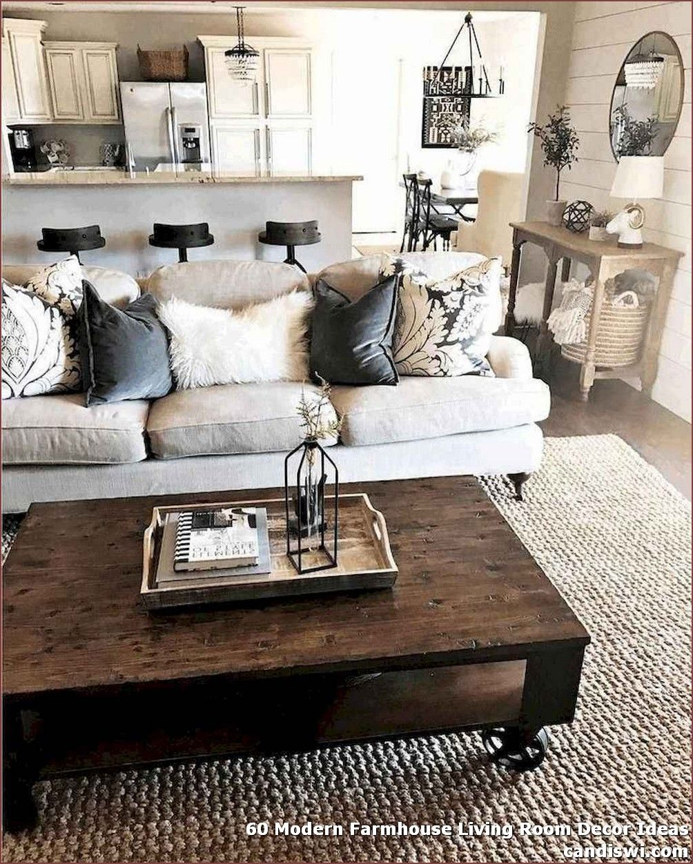 60 Modern Farmhouse Living Room Decor Ideas Modern Farmhouse Living Room Decor Farmhouse Decor Living Room Farmhouse Style Living Room