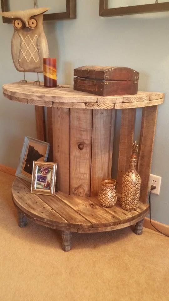 pin von josey brown auf for the home pinterest m bel kabeltrommel und basteln. Black Bedroom Furniture Sets. Home Design Ideas