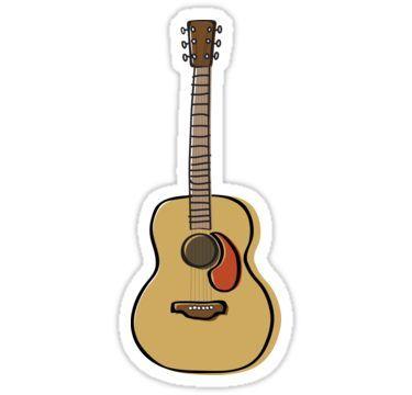 Acoustic Guitar Sticker Guitar Kids Guitar Guitar Stickers