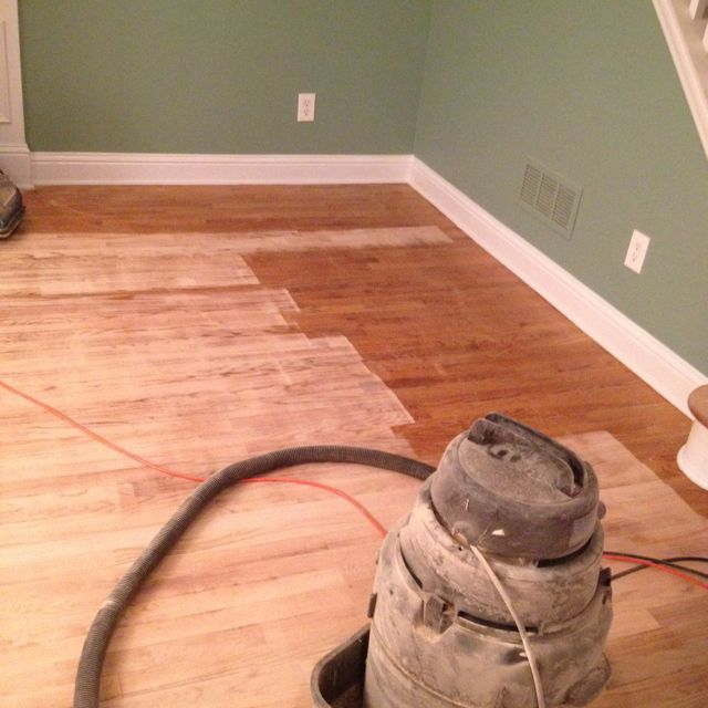 Sanding A Floor W Belt Sander And Floor Edger House Styles