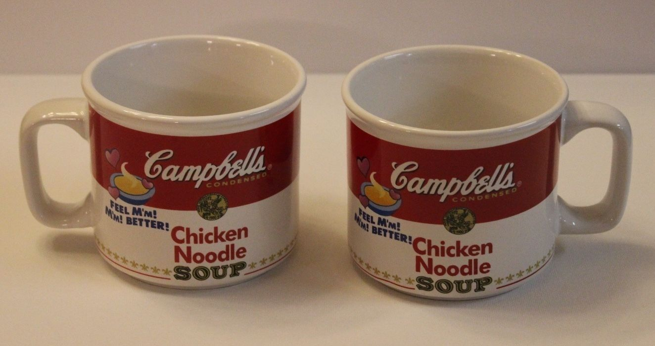 2 Vintage Campbell S Chicken Noodle Soup Bowls With