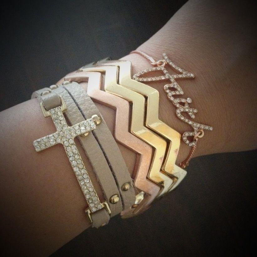 StyleLoveLiving / Bracelets- chevron cuffs :)