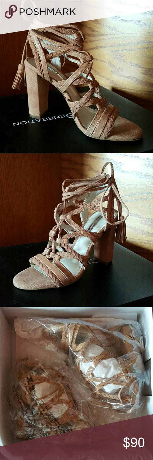 8d780c397f61 BCBG Ronny High Heel Strappy Sandal Crisscross design