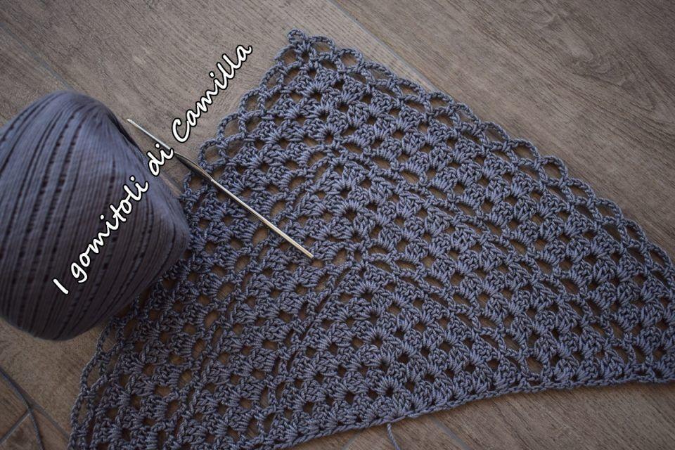 Scialle Con Motivi Granny E Archetti Scialle Crochet Shawl