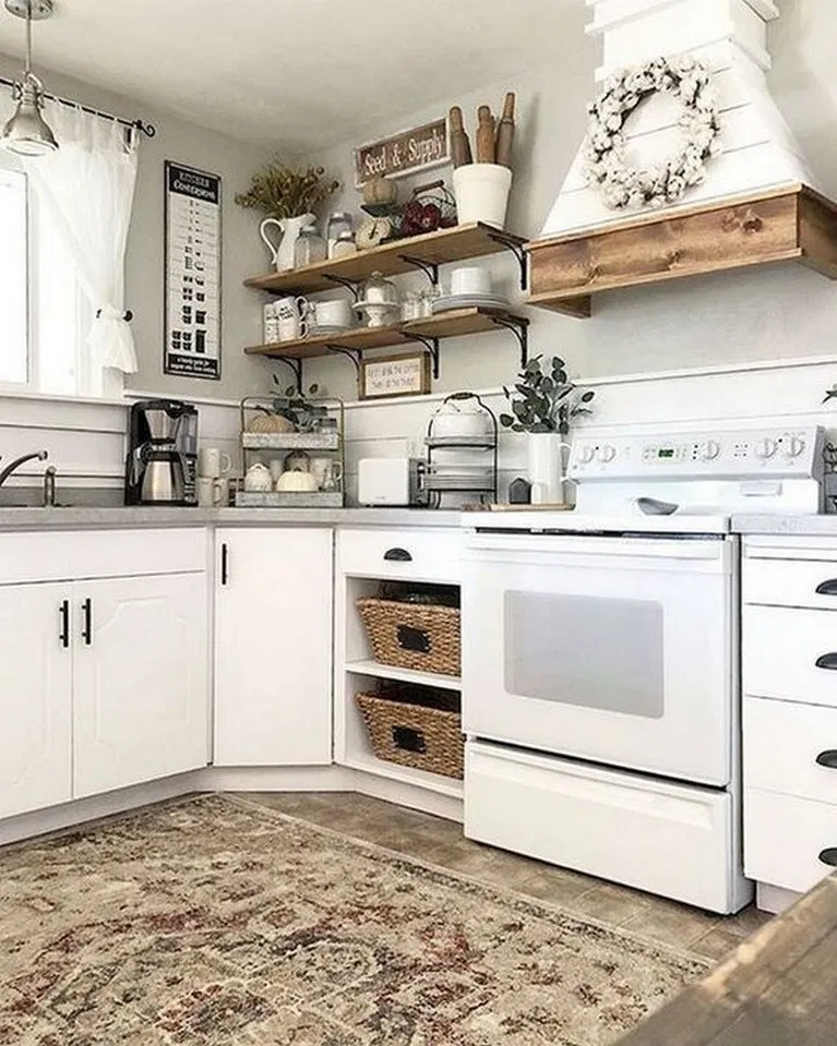 10 Chic Rustic Farmhouse Kitchen Ideas To Make Cooking More Fun 7