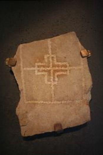 Clonmacnoise - Ireland - preserved stone carving