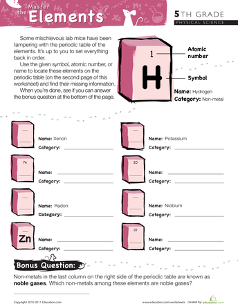 Worksheets Periodic Table Worksheets Middle School 1000 images about elements on pinterest