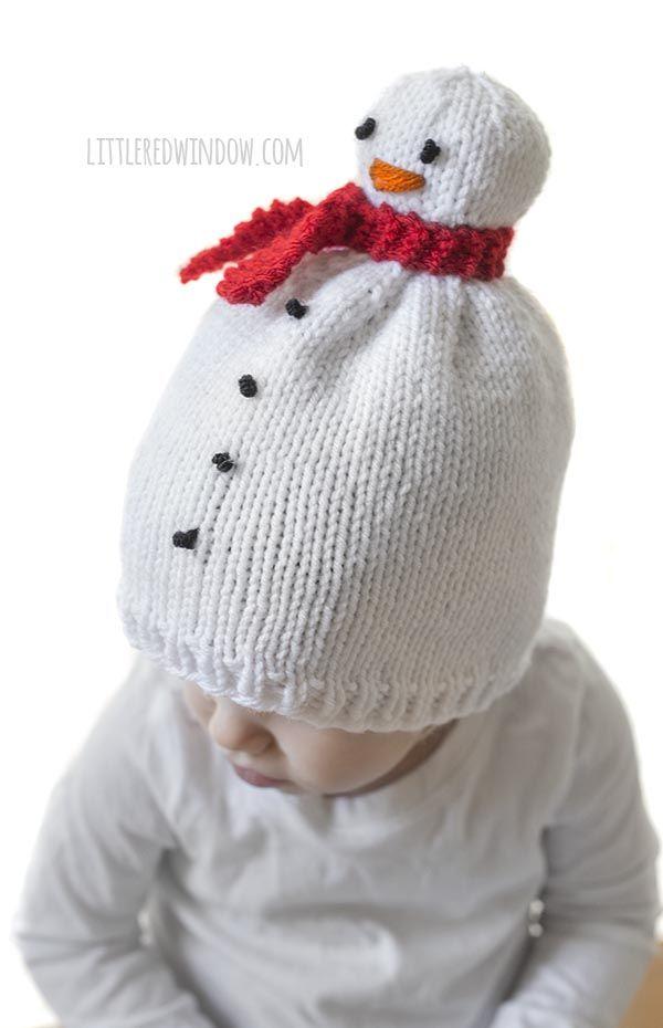 Snowman Hat Knitting Pattern | Snowman hat for kids | Pinterest ...