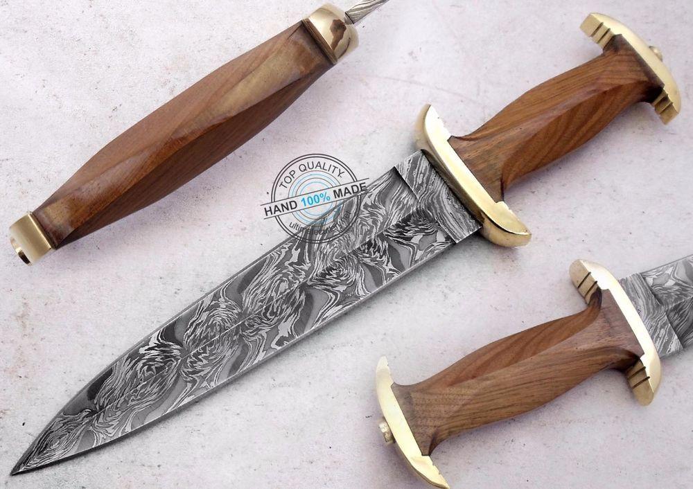"13.25"" Custom hand made Beautiful Damascus Steel Swiss dagger Knife (AA-0238-24) #KnifeArtist"