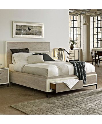 Avery Power Outlet Nightstand Macys Com Bed Frame With Storage