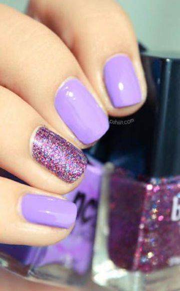 15 Cute Summer Nail Art Ideas For 2016 Pretty Designs Purple Nails Fancy Nails Glitter Accent Nails
