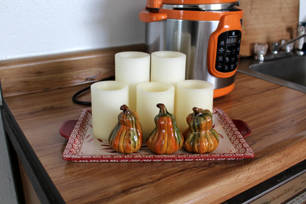 Set of candle impressions rustic ombre flameless candles wtimer