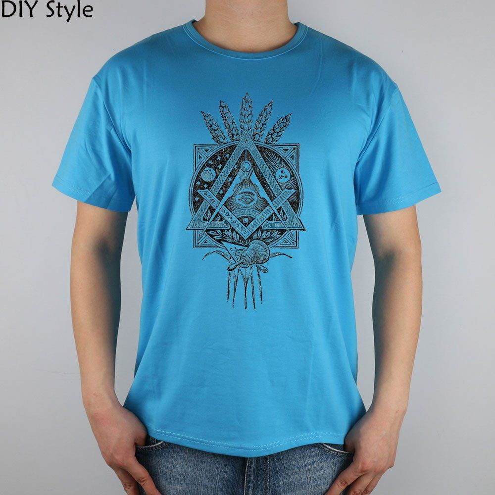 cbcd853675c3 Cotton Masonic T-Shirt With Masonic Symbolism - Different Colors Available