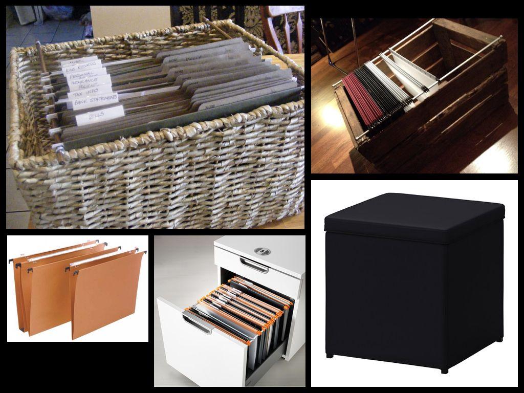 Organizedhome Day 19 Diy File Basket Diy Cleaning Hacks Basket