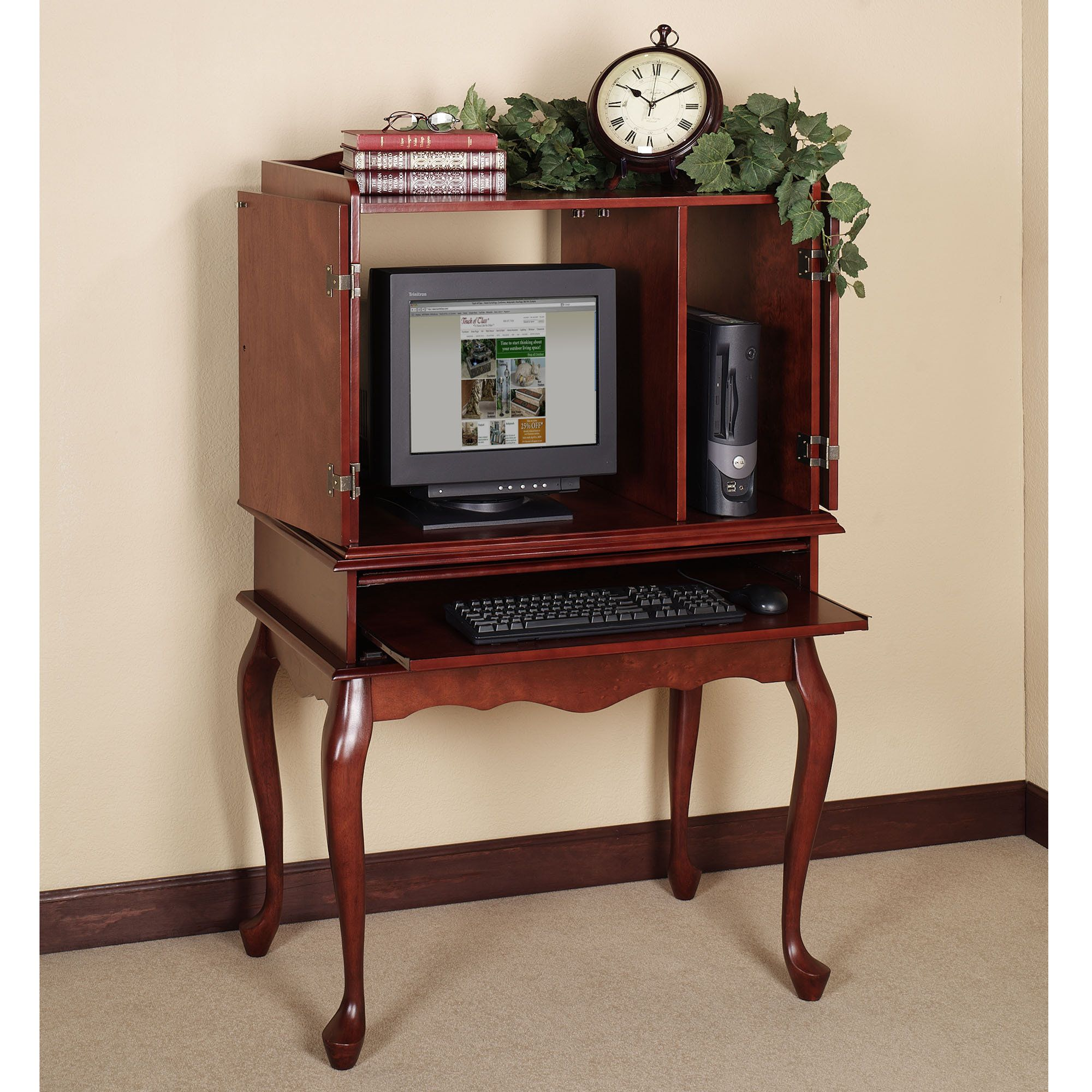 Queen Anne Computer Desk Set Home Office Furniture Sets Home