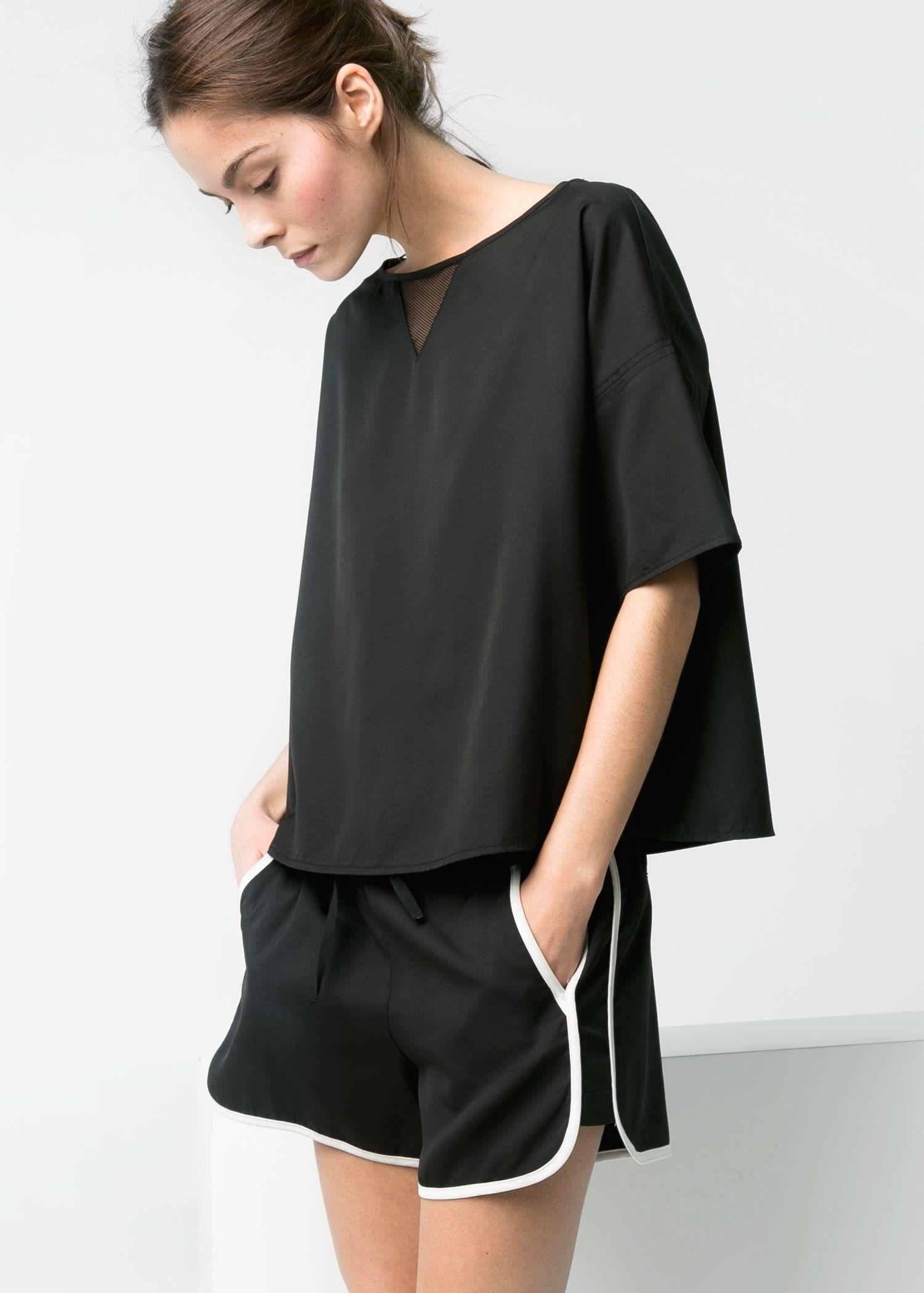 10499f2d981 Mesh appliqué top - Women   w e a r   Fashion, Chic summer outfits ...