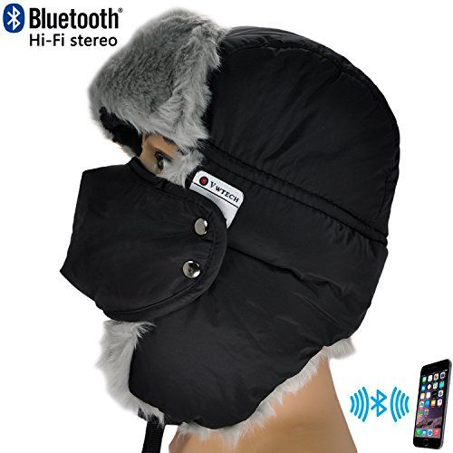 3cfb4a8b5649b Special Offers - VWTECH Unisex Faux Fur Thick Ski Bomber Cap Trapper  Bluetooth Hat Stereo Headphone