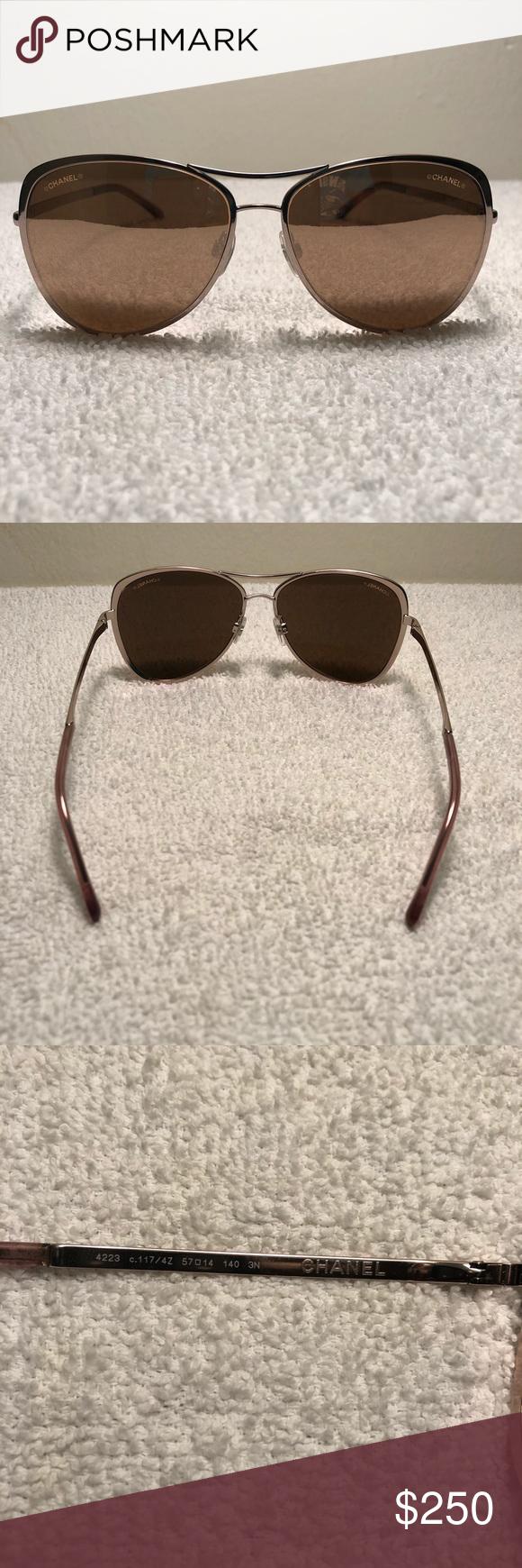 6dba9f5daab Chanel 4223 c.117 4Z Pilot Pink Gold Sunglasses Chanel 4223 c.117 4Z ...